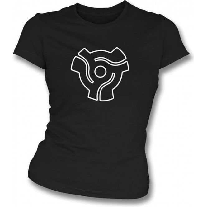 45 Vinyl Insert Womens Slim-Fit T-shirt