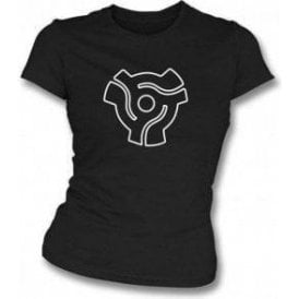 45 Vinyl Insert Womens Slim-Fit T-shirt
