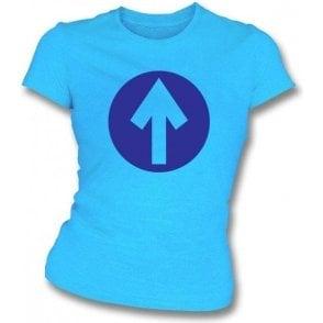 60's Mod Blue Arrow As Worn By John Entwistle Of The Who Women's Slimfit T-shirt