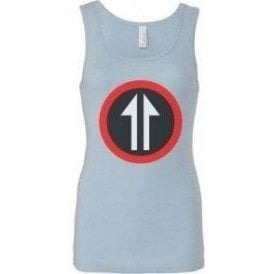 60's Mod Split Arrow (As Worn By Roger Daltrey, The Who) Women's Baby Rib Tank Top