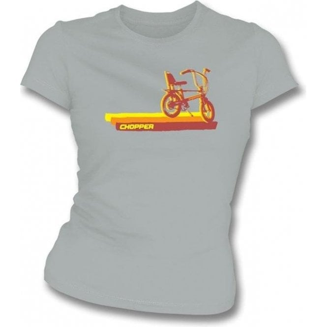 70's Chopper Bike Womens Slim-Fit T-shirt