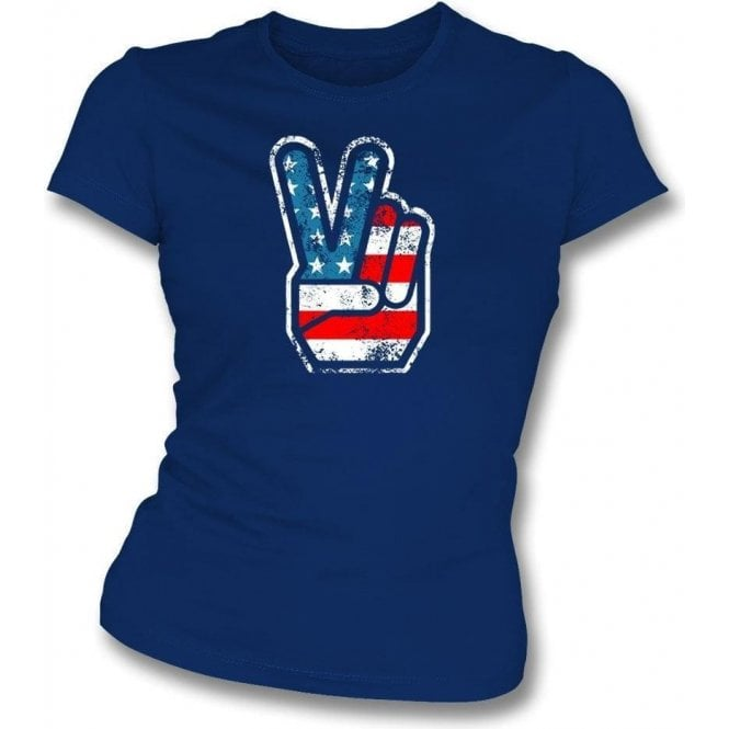 70's USA Fingers Womens Slim Fit T-Shirt