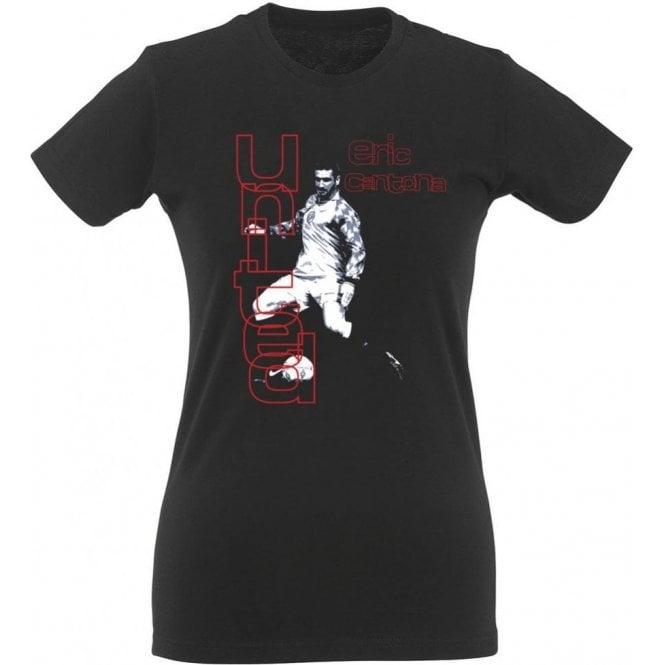 90's Eric Cantona (As Worn By Morrissey, The Smiths) Womens Slim Fit T-Shirt