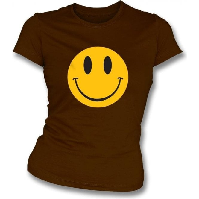 90's Smiley Face Womens Slim Fit T-Shirt