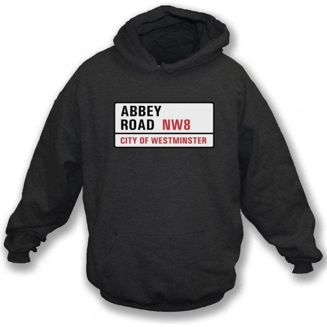 Abbey Road Road Sign Hooded Sweatshirt