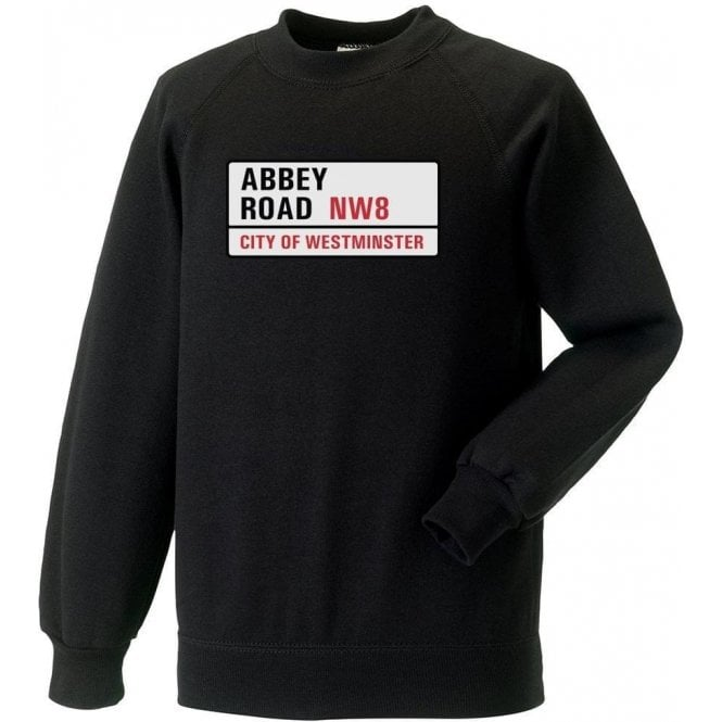 Abbey Road Road Sign Sweatshirt