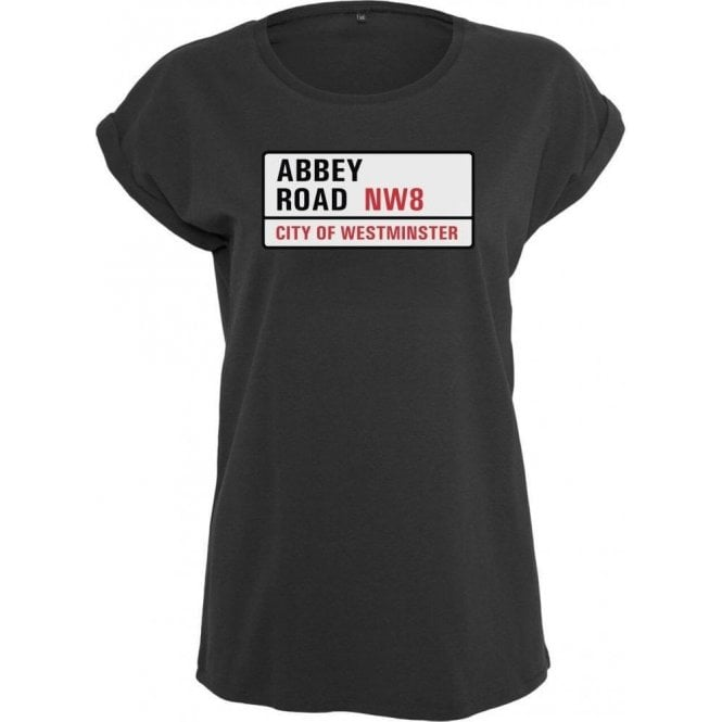 Abbey Road Road Sign Womens Extended Shoulder T-Shirt