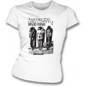 Adam and The Ants 'Ant Music' Poster Womens Slim-Fit T-Shirt