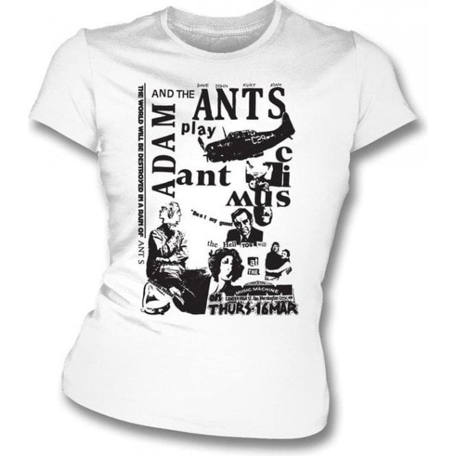 Adam And The Ants Punk Poster Womens Slim-Fit T-shirt