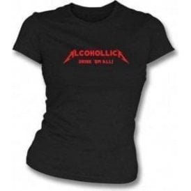 Alcohollica Womens Slim-Fit T-shirt