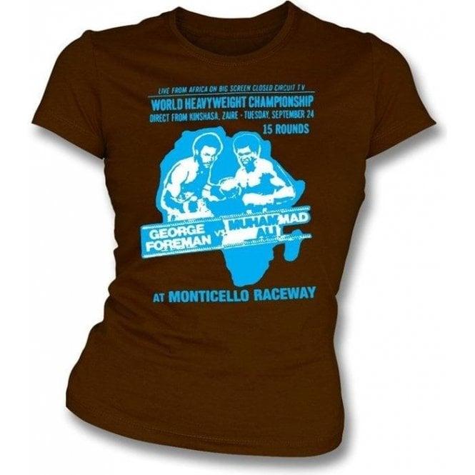 Ali v Foreman Womens Slim-Fit T-shirt