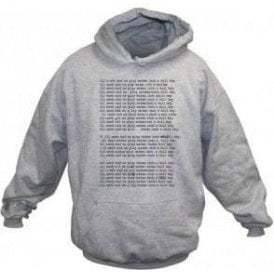 'All Work And No Play' (Inspired by The Shining) Movie Slogan Hooded Sweatshirt