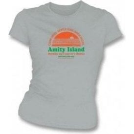 Amity Island (Inspired by JAWS) Womens Slimfit T-shirt