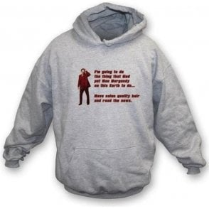 Anchorman 2 Ron Burgundy Hair Hooded Sweatshirt