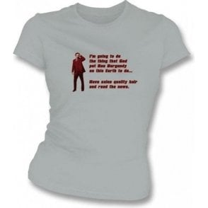 Anchorman 2 Ron Burgundy Hair Womens Slim Fit T-Shirt