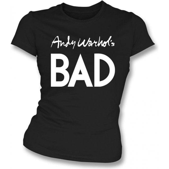 Andy Warhol's Bad (As Worn By Debbie Harry, Blondie) Womens Slim Fit T-Shirt