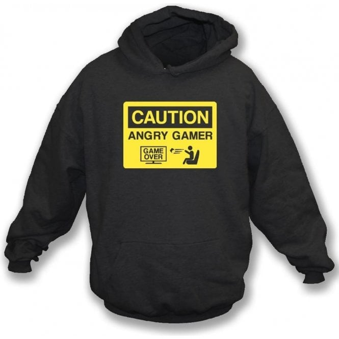 Angry Gamer Kids Hooded Sweatshirt