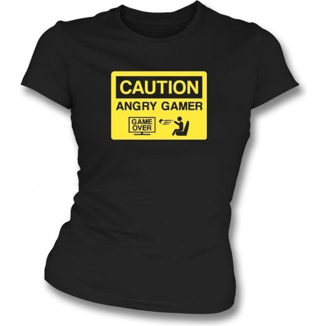 Angry Gamer Womens Slim Fit T-Shirt