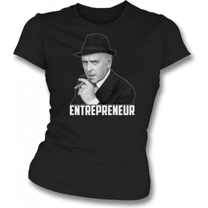 Arthur Daley - Entrepreneur (Inspired by Minder) Womens Slim Fit T-Shirt
