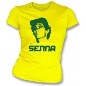 "Ayrton Senna ""Face"" Womens Slim Fit T-Shirt"