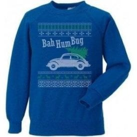 Bah Hum Bug (VW Beetle) Kids Christmas Jumper