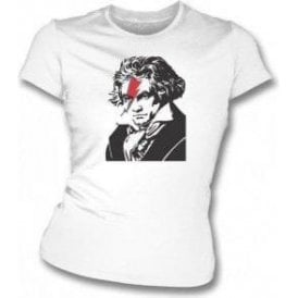Beethoven Bowie Womens Slim Fit T-Shirt