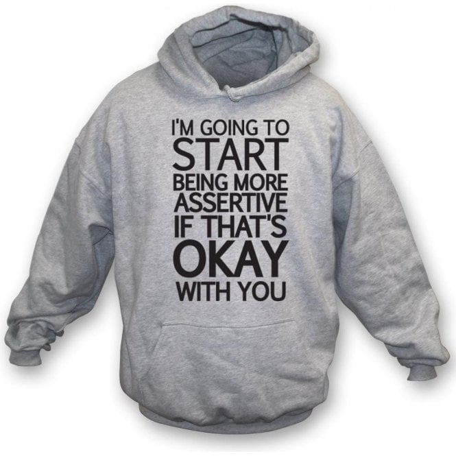 Being More Assertive (If That's Okay With You) Hooded Sweatshirt