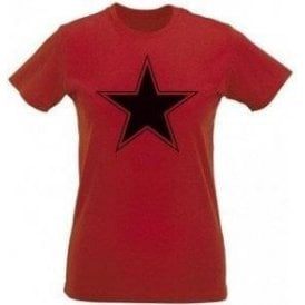 Black Star (As Worn By Paul Weller, The Jam) Womens Slim Fit T-Shirt