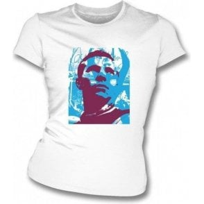 Bobby Moore Collage Womens Slim Fit T-Shirt