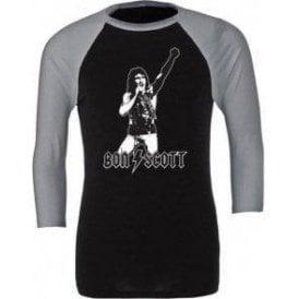 Bon Scott - Tribute 3/4 Sleeve Unisex Baseball Top