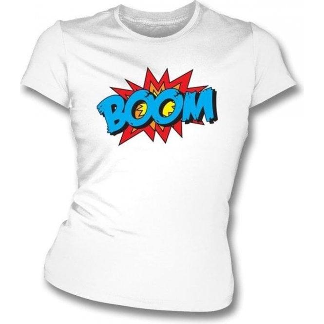 Boom Women's Slimfit T-shirt White