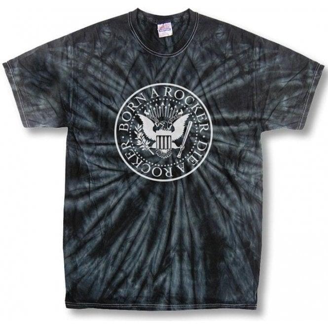 Born a Rocker Die a Rocker Black Tie Dye T-shirt