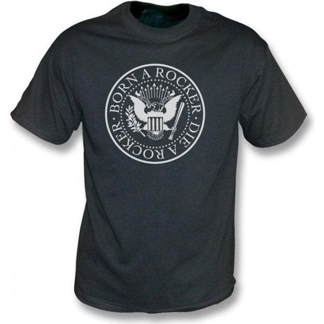 Born A Rocker Die A Rocker - Vintage Wash  T-shirt