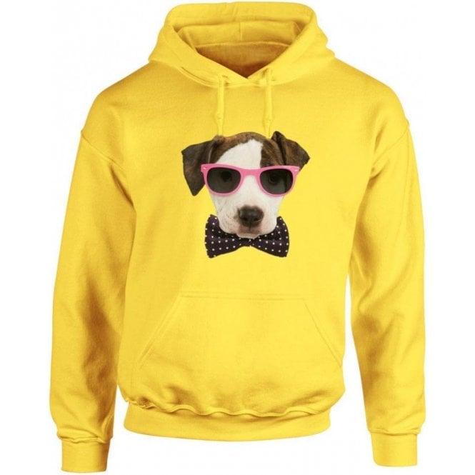 Bow Tie Dog Kids Hooded Sweatshirt