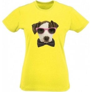 Bow Tie Dog Womens Slim Fit T-Shirt