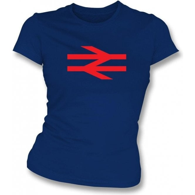 British Rail (As Worn By Damon Albarn, Blur/Gorillaz) Womens Slim Fit T-Shirt