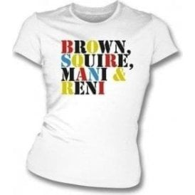 Brown Squire Mani & Reni (The Stone Roses) Womens Slim Fit T-Shirt