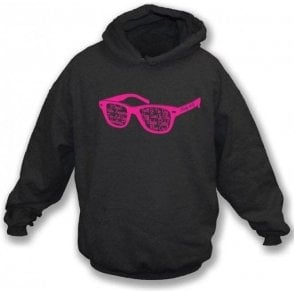 Buddy Holly Glasses Black Hooded Sweatshirt