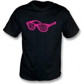 Buddy Holly Glasses Black T-Shirt