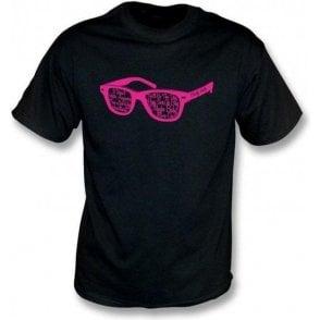 Buddy Holly Glasses Black T-Shirt