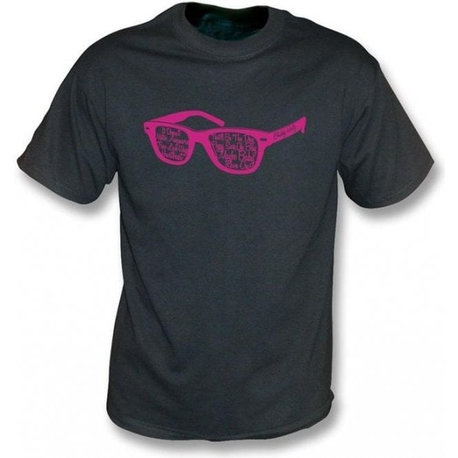Buddy Holly Glasses Black Vintage Wash T-Shirt