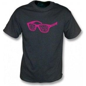 Buddy Holly Glasses Black Vintage Wash T-Shirt