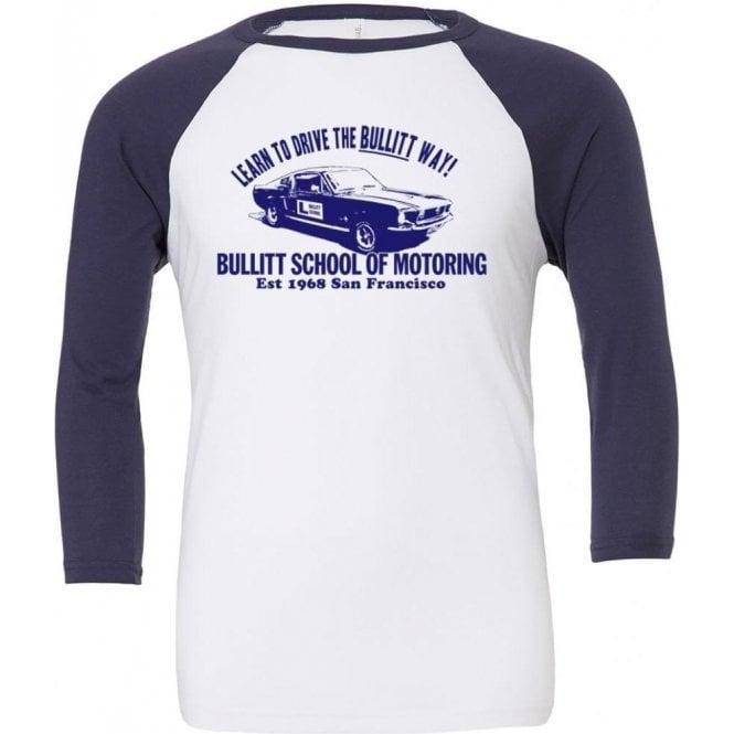 Bullitt School Of Motoring (Inspired By Bullitt) 3/4 Sleeve Unisex Baseball Top