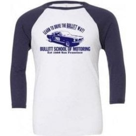 Bullitt School Of Motoring (Inspired By Bullitt) 3/4 Sleeve Unisex Baseball Top