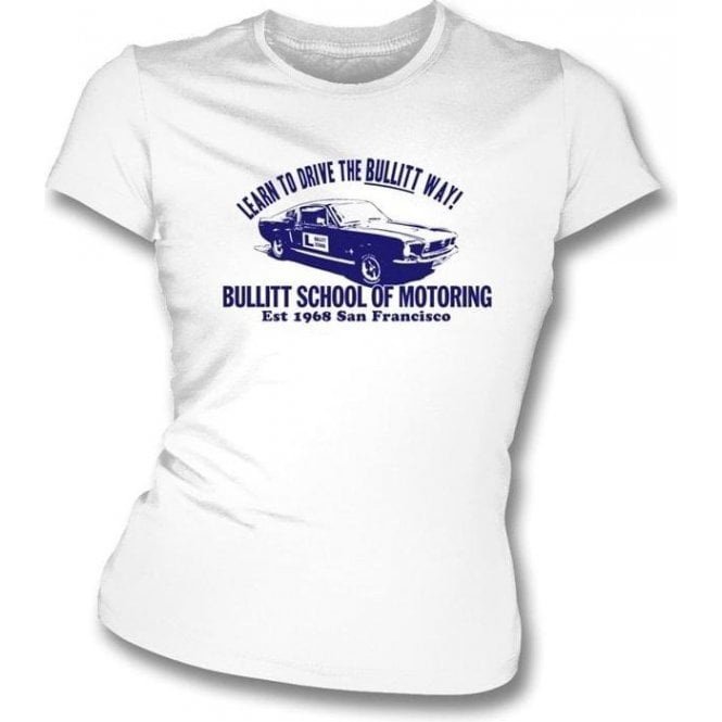 Bullitt School of Motoring (Steve McQueen) Womens Slimfit T-shirt