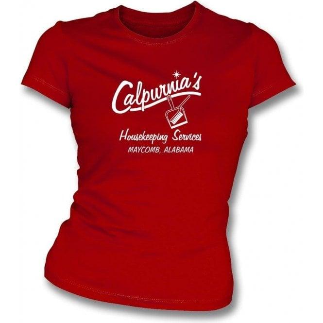 Calpurnia's Housekeeping Services (To Kill A Mockingbird) Womens Slim Fit T-Shirt