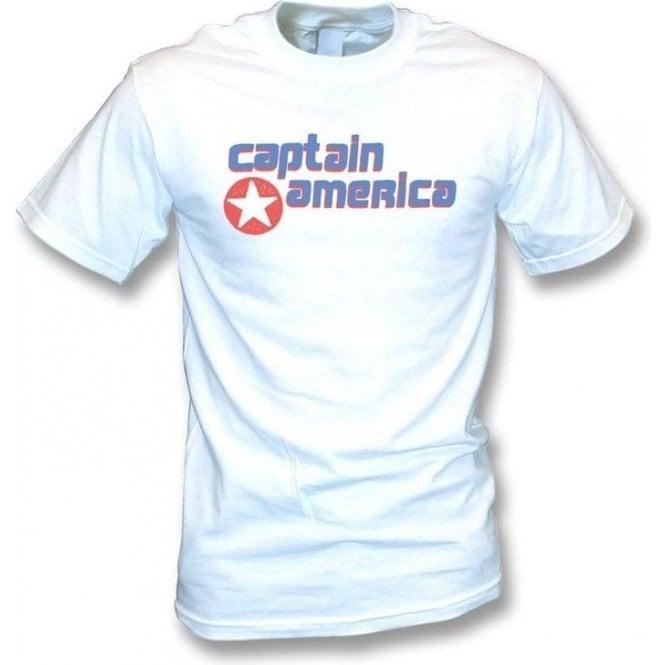 Captain America (As Worn By Kurt Cobain, Nirvana) T-Shirt