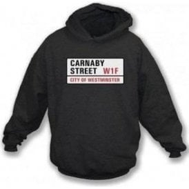 Carnaby Street Road Sign Kids Hooded Sweatshirt