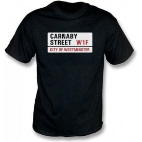 Carnaby Street Road Sign Kids T-Shirt