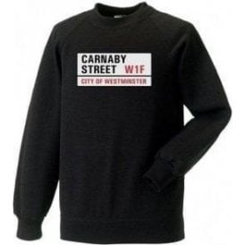 Carnaby Street Road Sign Sweatshirt